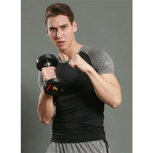 Men Printed Stretchable Gym T-Shirt