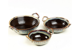 Cultural Concepts Brown Studio Kadhai Set of 3
