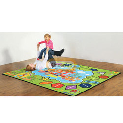 Color And Shape Kids Carpet