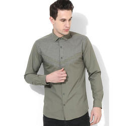 Mens Olive Club Wear Shirt