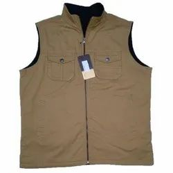 Casual Wear Mens Polyester Sleeveless Jacket, Size: Large