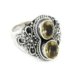 Beloved 925 Sterling Silver Citrine Gemstone Ring