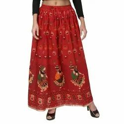 Jodhpuri Printed Cotton Skirt