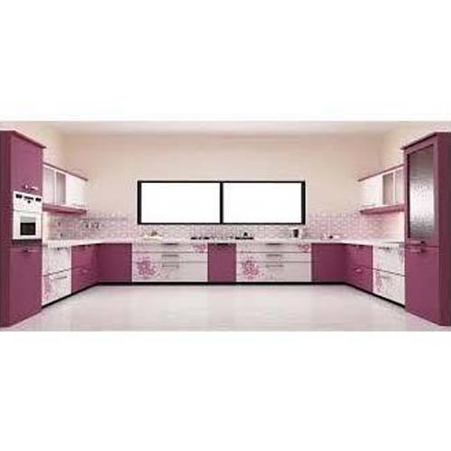 Modern PVC Foam Sheet Finish Modular Kitchen