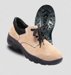PRICAP 009 Suede Camel Safety Shoes, Size: 5 To 11