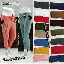 Plain Ladies Toko Bud Pants, Size: M-xxl