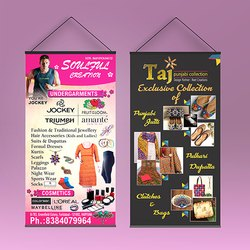 Multicolor Banner Material Hanger Standee Printing Services, in pan india