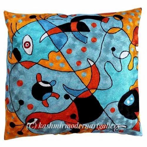 Woolen Silk Handmade Miro Silk Throw Pillow Size 45 45 Cm Rs 1800 Piece Id 20810320812