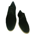 Mens Leather Black Casual Shoes, Size: 40 & 43