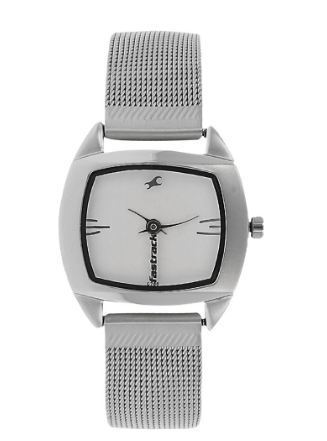 a59cdfbf622 Silver Fastrack Analog Watch For Women NG6001SM01