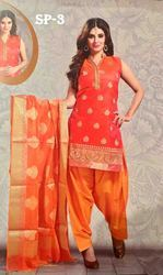 Designer Semi Patiala Suit For Women