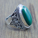 925 STERLING SILVER HANDMADE JEWELRY MALACHITE GEMSTONE RING WR-5208