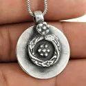 Oxidised Handmade 925 Sterling Silver Pendant