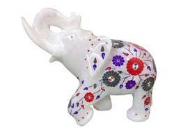 Marble White Elephant Statue