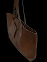 Leather Tote Bag With Pouch