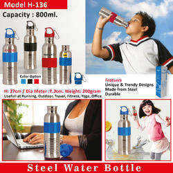 Steel Water Bottle H-136