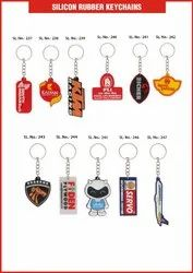 CUSTMISED Silicon Keychians Silicone Key Chains, Packaging Type: Plastic Pouch