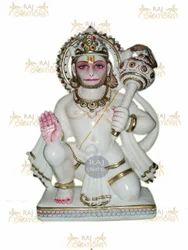 White Marble Hanuman Statues