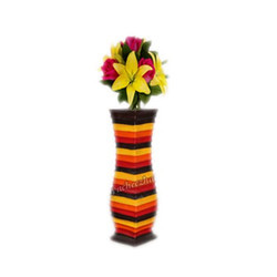 Yellow Orange Flower Vase