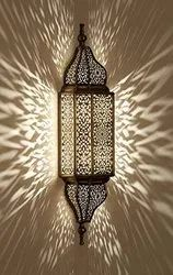 Cool White Metal Moroccan Wall Scone Lamp