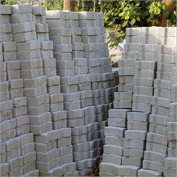 Grey Concrete Fly Ash Bricks