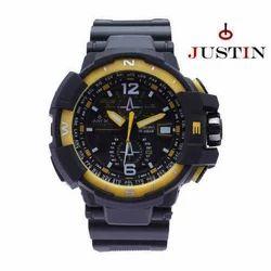 Men's Justin Black Sport Watches, Packaging: Box