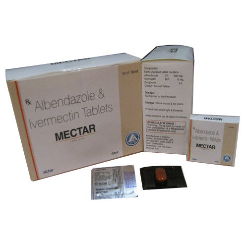 Albendazole And Ivermectin Tablets, 20x1 Tablets, Rs 3 /strip | ID:  19518128797