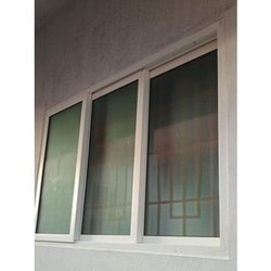 Rectangular Upvc Sliding Windows, For Residential, Glass Thickness: 4-6 Mm