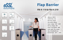 Flap Barrier eSSL Gurgaon FB-TL-2000 & FB-TL-2200