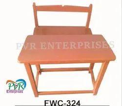 P.V.R.Enterprises Brown Full Wood Separate Bench