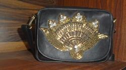 Hand Embroidered Leather Bag