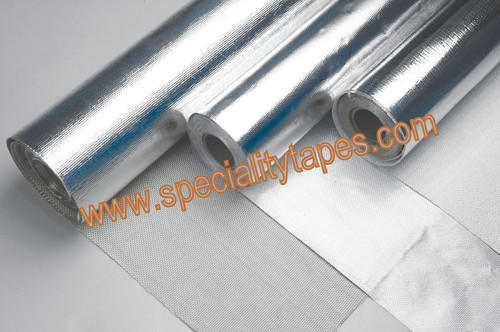 Silver & white Aluminum Foil Tape Laminated With Fiber Glass Cloth Sticol, Tape Length: >50 m