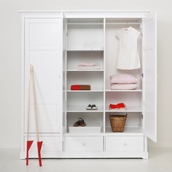 Kids Wooden Wardrobe