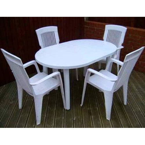 White Plastic Dining Table Set Rs 4400 Piece Jain