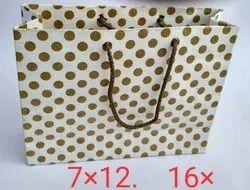 Golden Print Paper Bag