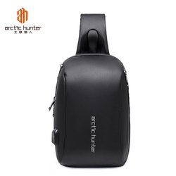 AH Arctic Hunter MensAnti-Theft Sling Backpack with USB Charging Port,