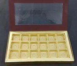 BROWN WINDOW CHOCOLATE BOX 18 CAVITY