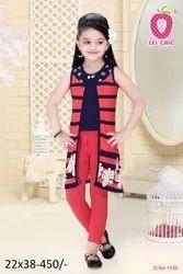 tometo Girl Cute Tomato Stylish 3 Piece Dress, Age Group: 3-12 Years