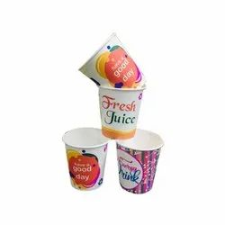 Disposable Printed Paper Juice Glass, Capacity: 150 mL, Packet Size: 100 Pieces