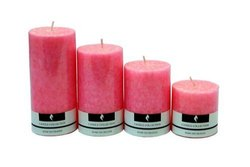Lotus Scented Pillar Candle Set