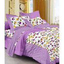 Flower Printed Cotton Double Bed Sheet