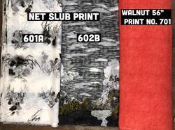 Net Slub Printed Fabrics