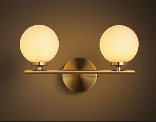 Warm White Metal Bedroom Wall Light