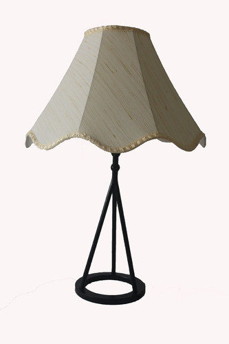 Table Lamp Finished with Fabric Shade.