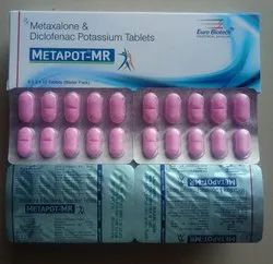 Metaxalone 400 mg &  Diclofenac Potassium 50 mg Tablets