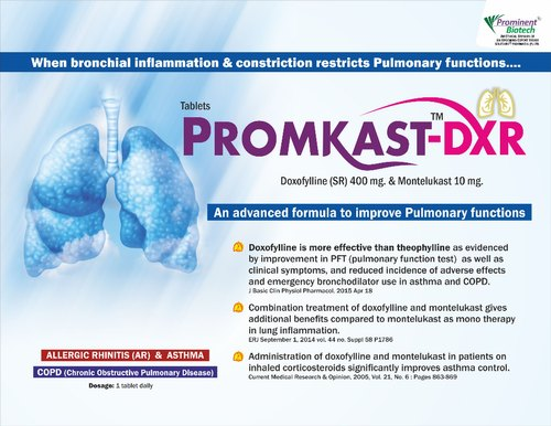 Montelukast 10 mg & Doxophylline 400 mg (Sustained Release