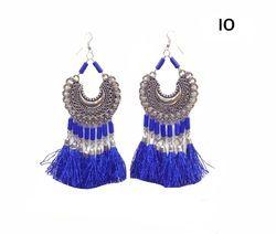 Women Oxidised Silver Earring