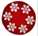 Red & Milky Round Beaded Hand Made Place Mats, Size: 14x14 Inch
