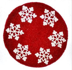 Round Beaded Hand Made Place Mats