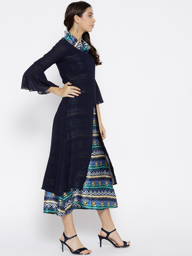 7ebce6dc3 Cottinfab Polyester Party Wear Aline Maxi Dress, Rs 999 /piece | ID ...